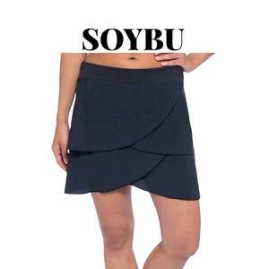 NWOT Soybu Hard to Find Black Petal Skort, Size XS